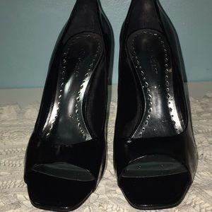 BCBGirls Black Open Toe Shoes